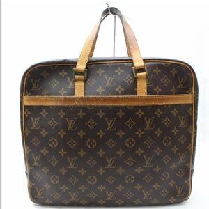 Auth Louis Vuitton Porte Document Business Bag